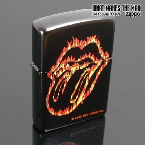 Zippo 21129 – Zippo Rolling Stones Flaming Tongue Black Matte