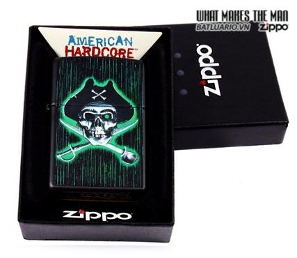 Zippo 24261 – Zippo Pirate Skull And Cross Swords Black Matte