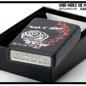 Zippo 24556 – Zippo Rose Black Matte 2