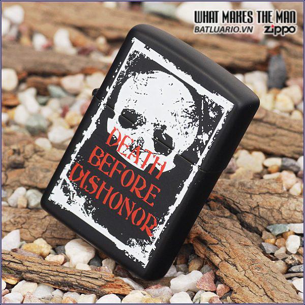 Zippo 24711 – Zippo Death Before Dishonor Black Matte 2
