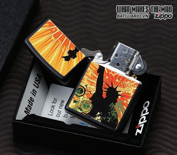 Zippo 24822 – Zippo Lady Liberty Black Matte 1