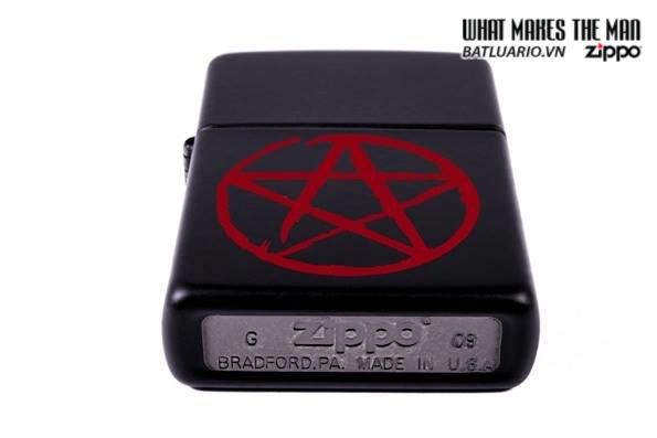 Zippo 24889 – Zippo Pentagram Black Matte