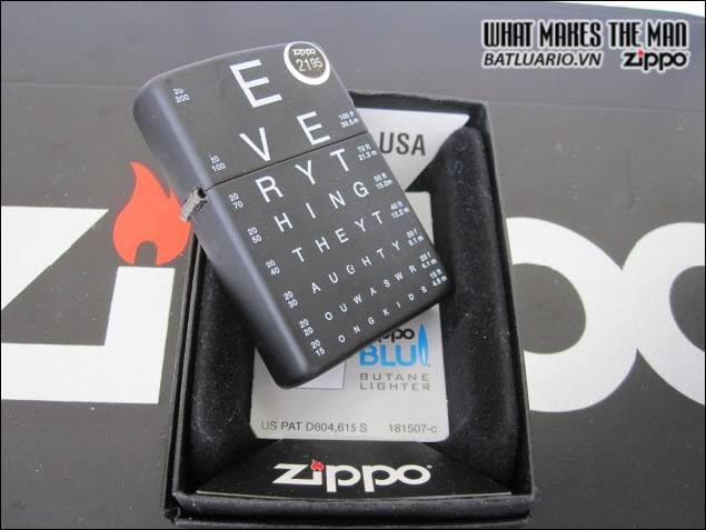 Zippo 24890 – Zippo Eye Chart Black Matte 2