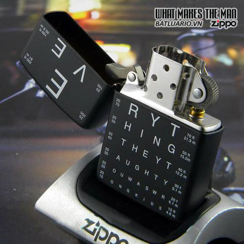 Zippo 24890 – Zippo Eye Chart Black Matte