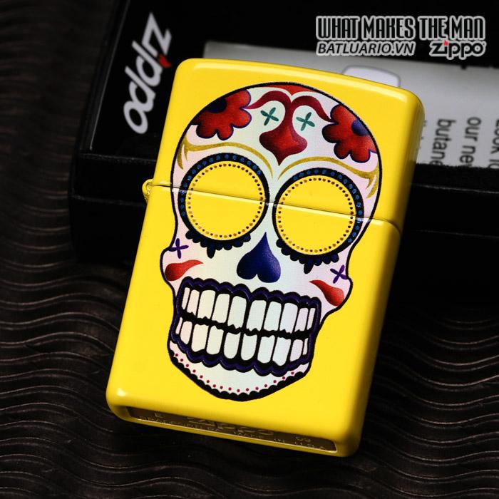 Zippo 24894 – Zippo Day of the Dead Skull Lemon