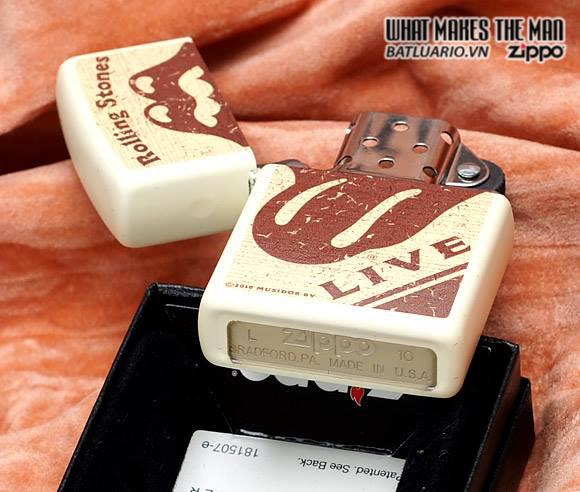 Zippo 28018 – Zippo Rolling Stones Live Cream Matte 2