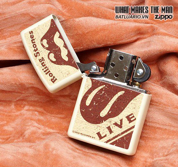 Zippo 28018 – Zippo Rolling Stones Live Cream Matte