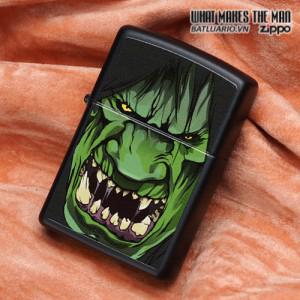 Zippo 28041 – Zippo Black Matte Angry Hulk 1