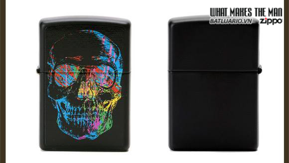 Zippo 28042 – Zippo X-Ray Skull Black Matte 1