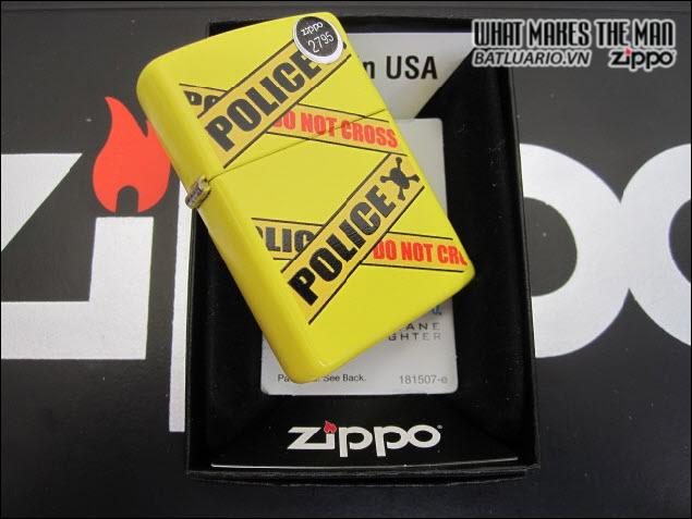 Zippo 28060 – Zippo Lighter Police Caution Lemon