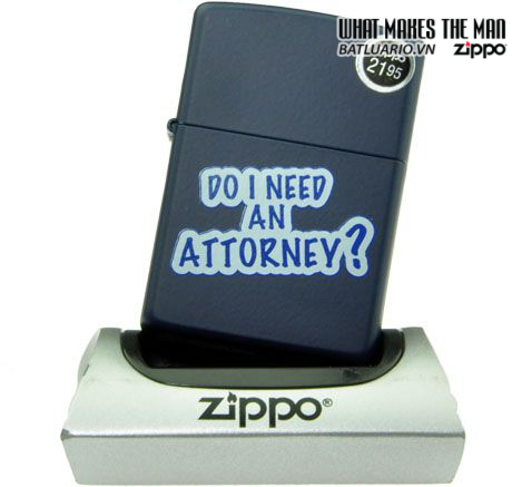 Zippo 28063 – Zippo Do I Need An Attorney Navy Matte