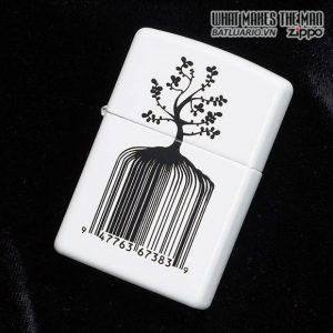 Zippo 28296 – Zippo Identity Tree Barcode White Matte 2