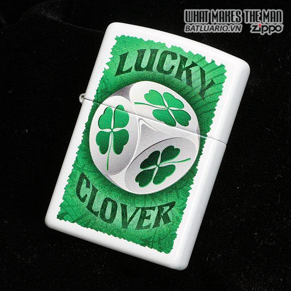 Zippo 28298 – Zippo Lucky Clover Dice White Matte 1