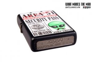 Zippo 28437 – Zippo Area 51 Security Pass Black Matte 2
