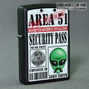 Zippo 28437 – Zippo Area 51 Security Pass Black Matte 1