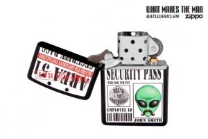 Zippo 28437 – Zippo Area 51 Security Pass Black Matte