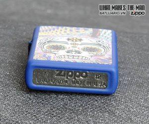 Zippo 28470 – Zippo Day Of The Dead Royal Blue Matte