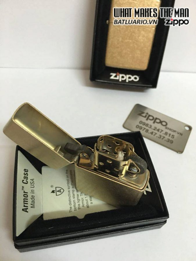 Zippo 28496 – Zippo Armor Tumbled Brass 6