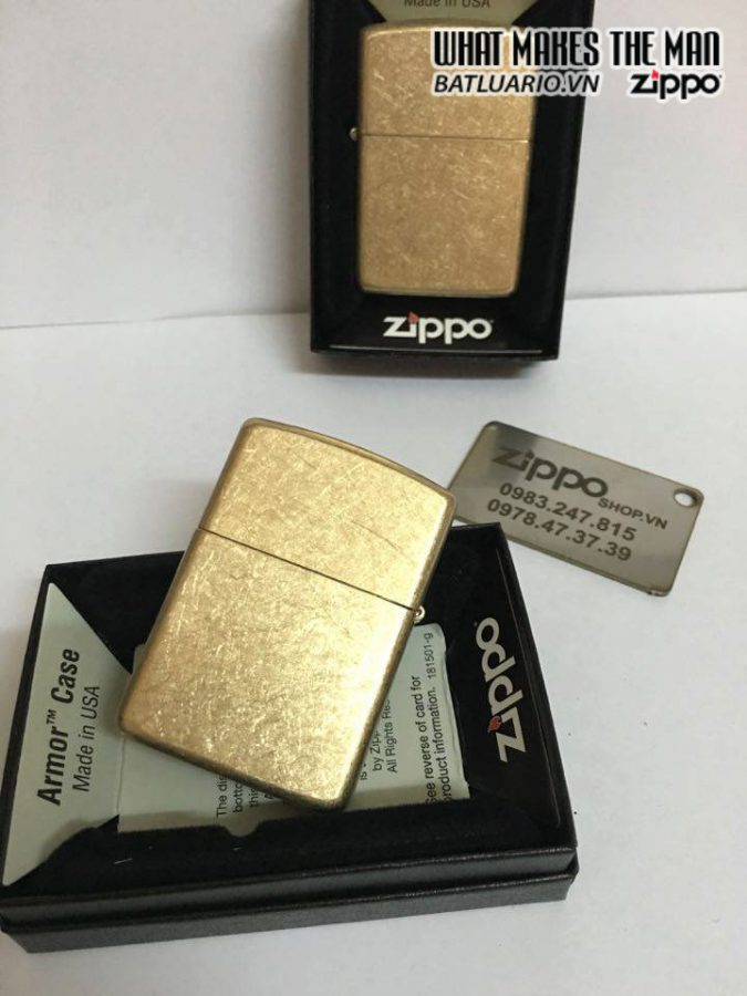 Zippo 28496 – Zippo Armor Tumbled Brass 3