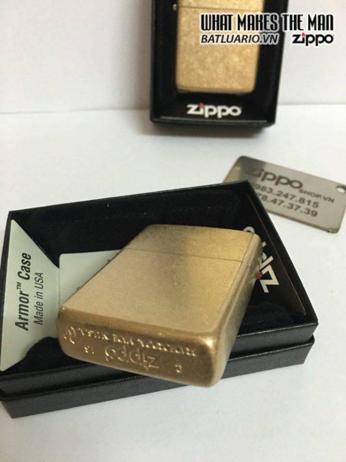 Zippo 28496 – Zippo Armor Tumbled Brass 2