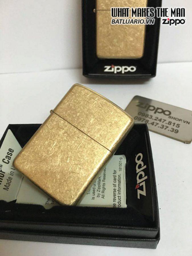 Zippo 28496 – Zippo Armor Tumbled Brass