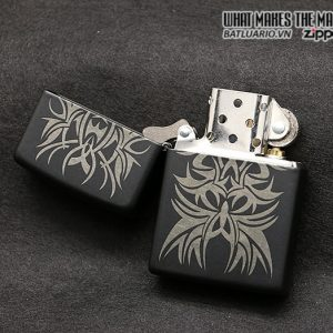 Zippo 28686 – Zippo Tattoo Laser Engraved Mark Black Matte 2