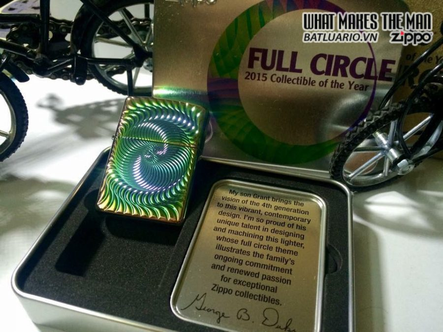 Zippo 28883 – Zippo 2015 Collectible of the year – full circle