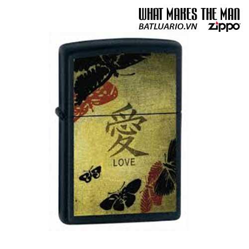 Zippo 20839 - Zippo Love Black Matte