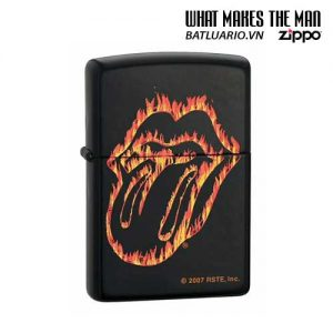 Zippo 21129 - Zippo Rolling Stones Flaming Tongue Black Matte