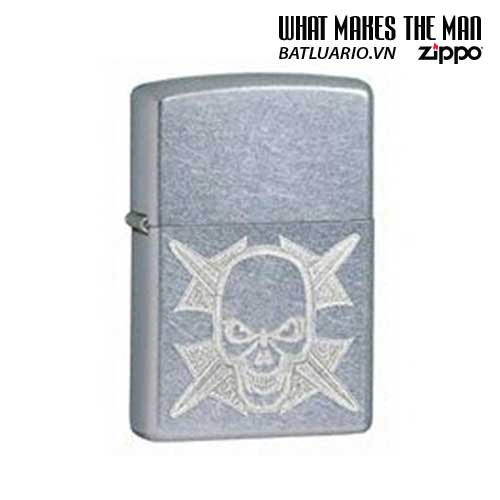 Zippo 24735 - Zippo Engraved Skull & Iron Cross