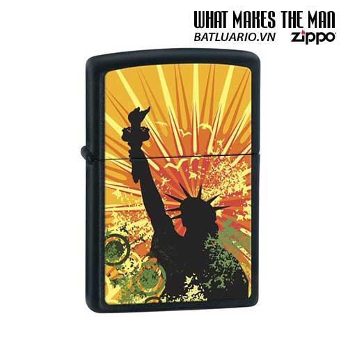 Zippo 24822 - Zippo Lady Liberty Black Matte
