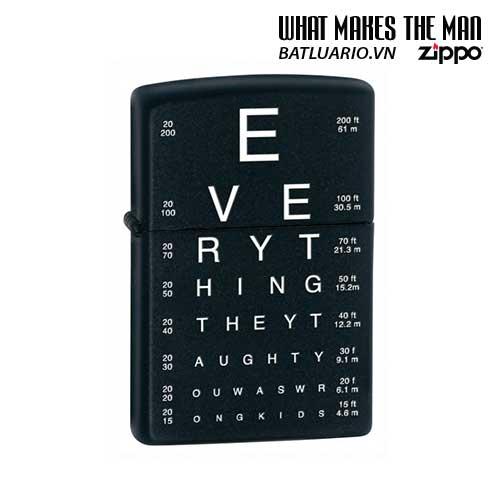 Zippo 24890 - Zippo Eye Chart Black Matte