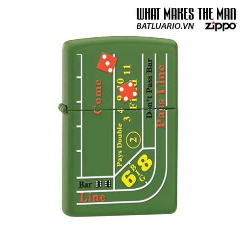Zippo 24893 - Zippo Craps Table Moss Green Matte