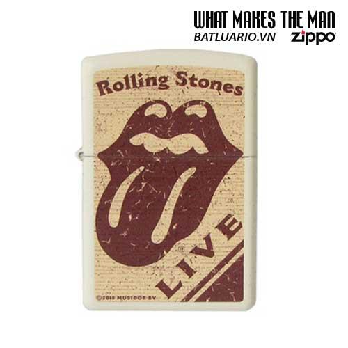 Zippo 28018 - Zippo Rolling Stones Live Cream Matte