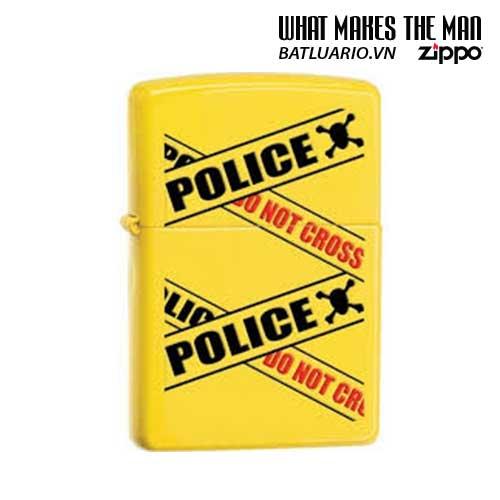 Zippo 28060 - Zippo Lighter Police Caution Lemon