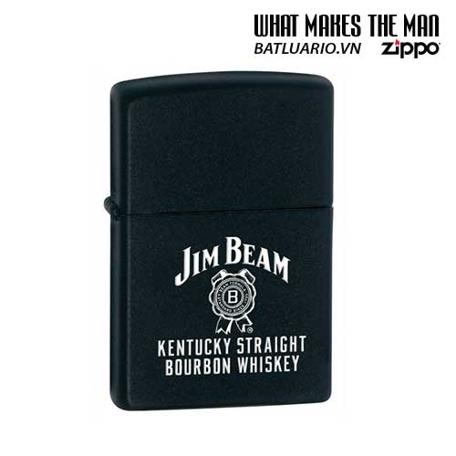 Zippo 28072 - Zippo Jim Beam Kentucky Straight Black Matte