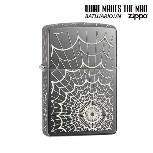 Zippo 28527 - Zippo Spider Web Black Ice