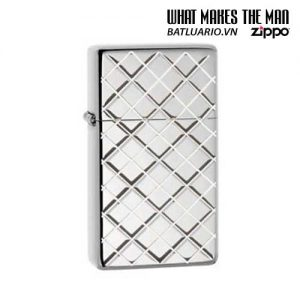 Zippo 28581 - Zippo Slim Armor Argyle Polished Chrome