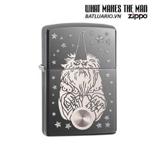 Zippo 28644 - Zippo Wizard Fantasy Black Ice Chrome