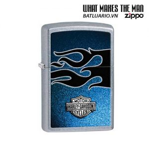 Zippo 28822 - Zippo Harley Davidson Bar & Shield Flame Design Street Chrome