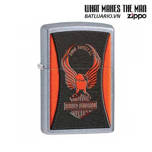 Zippo 28823 - Zippo HD Harley Davidson Orange Eagle Ride Forever