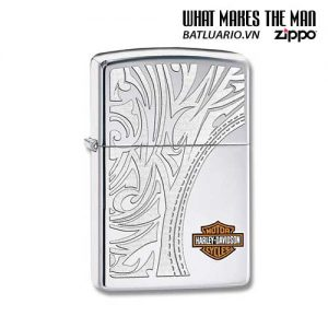 Zippo 28825 - Zippo Harley Davidson Bar & Shield Logo High Polish Chrome