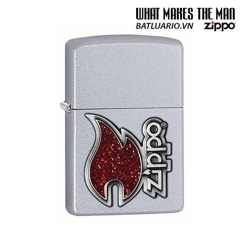 Zippo 28847 - Zippo Logo Satin Chrome