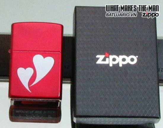 Zippo 24183 – Zippo Double Heart Candy Red 1