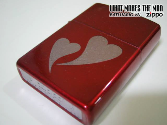 Zippo 24183 – Zippo Double Heart Candy Red 2