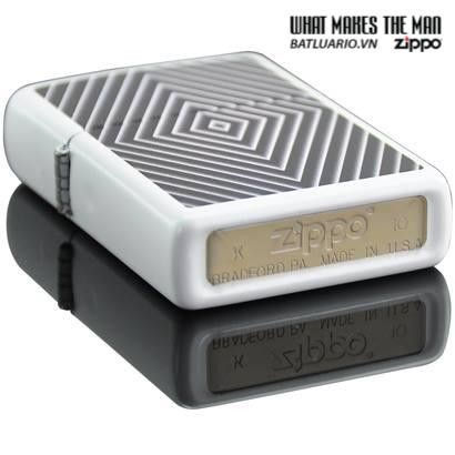 Zippo 28039 – Zippo Geometric White Matte 2