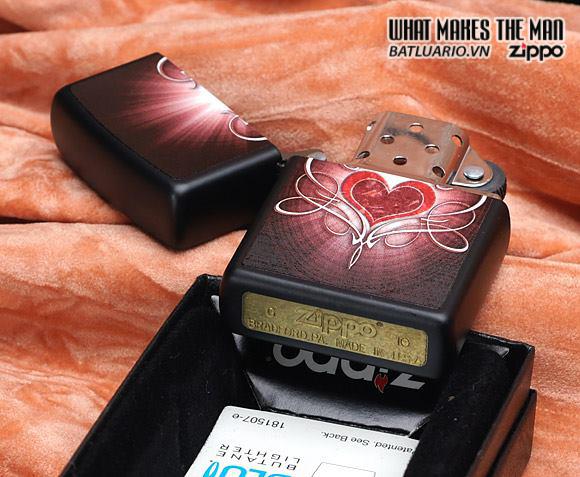 Zippo 28043 – Zippo Love Heart Black Matte 2