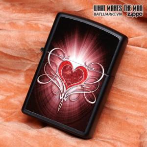 Zippo 28043 – Zippo Love Heart Black Matte 1