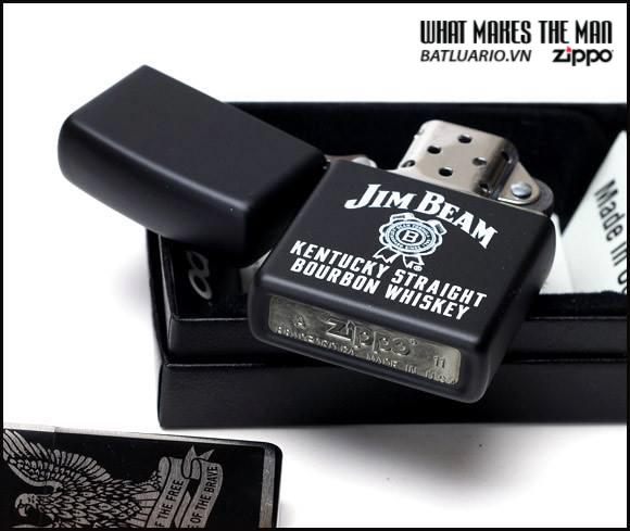 Zippo 21093 – Zippo Sapphire Lighter Luck Be A Lighter