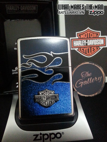Zippo 28822 – Zippo Harley Davidson Bar & Shield Flame Design Street Chrome 1